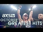 Holly Holm, Ashlee Evans-Smith, and Scott Holtzman in AXS TV Fights October Highlights