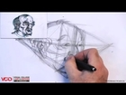 Learn How to Draw an Old Man's Face in Two Point Perspective Part 1 of 5