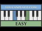 We Wish You a Merry Christmas (Christmas Carol) [Easy Piano Tutorial]