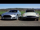 2013 Tesla Model S vs 1956 Citroën DS-19! Head 2 Head Episode 29