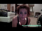 Paris Jackson doing her makeup