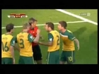 Australia vs Ghana Red Card for Australia Kewell (Handball in Goal Area) against GHANA