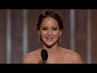 Jennifer Lawrence Wins 2013 Golden Globe for Best Actress in a Movie