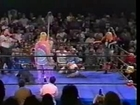 Missy Hyatt canes The Blue Meanie