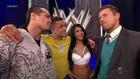 Rosa Mendez, Primo, Epico, & the Miz Backstage